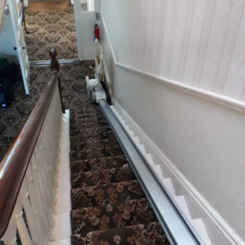 extra long track for stairlift